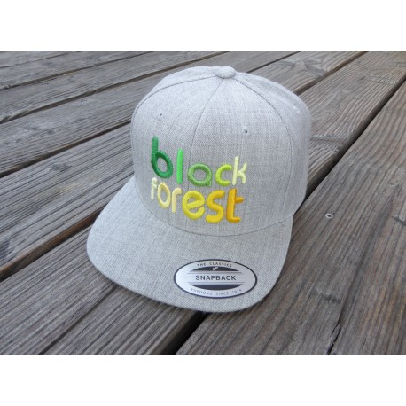 """black forest"" in 3D gestickt Snapback Cap 6 Panel"